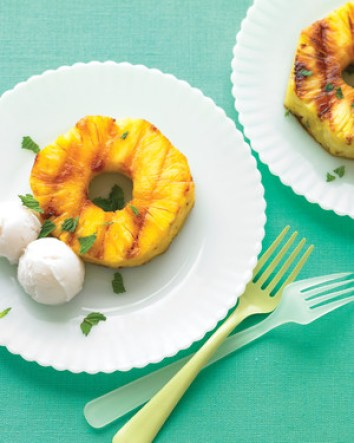Grilled Pineapple with Coconut Sorbet | Grilled Desserts Recipes