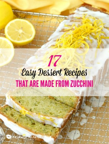 Easy Desserts Made From Zucchini