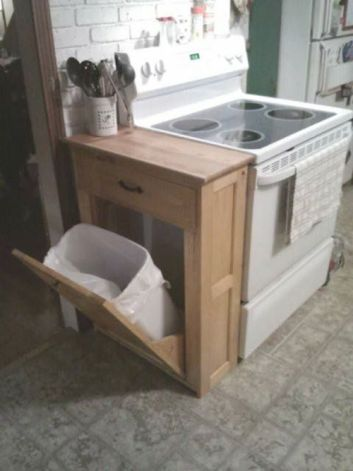 Tilt Out Trash Can   DIY Small Space Living Hacks