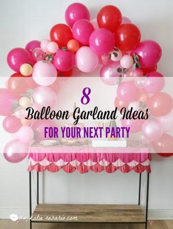 diy balloon garland arch ideas