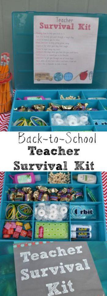 DIY Teacher Survival Kit   Back to School DIY Teacher Gifts