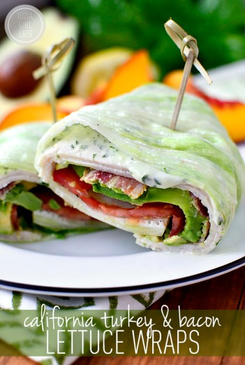 California Turkey Bacon Lettuce Wrap | Low Carb Lunch Recipes
