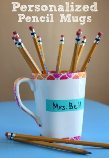 Personalized Pencil Mug | Back to School DIY Teacher Gifts