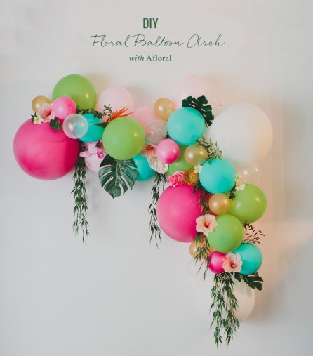 DIY Floral Balloon Arch | How to Make a Balloon Arch