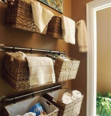 DIY Wall of Baskets | DIY Small Space Living Hacks