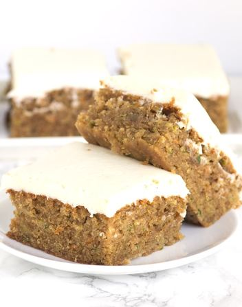 Peanut Butter Zucchini Squares | Easy Desserts Made From Zucchini