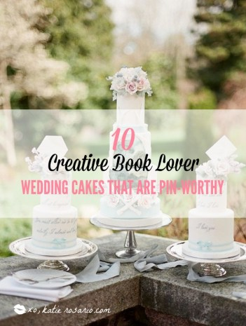 10 Book Lover Wedding Cake Ideas