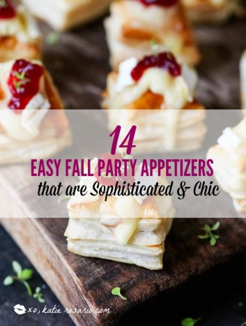 Easy Fall Party Appetizers and Snacks