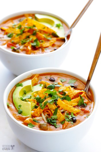 Cheesy Chicken Enchilada Soup | Low Maintenance Weeknight Dinner Ideas