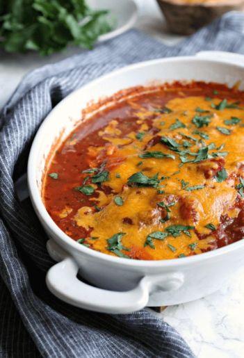 Easy Salsa Chicken Casserole | Low Carb Keto Casseroles