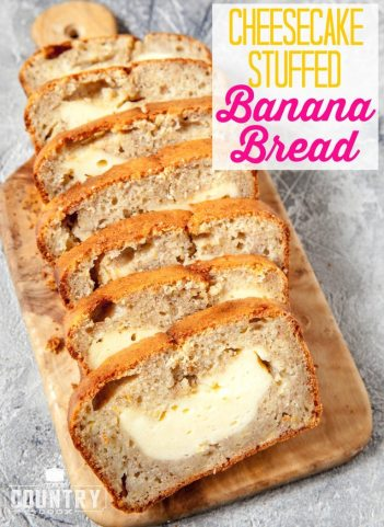 Cheesecake Stuffed Banana Bread | Cheesecake Stuffed Desserts