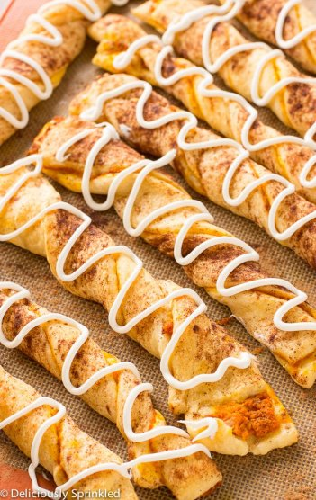 Pumpkin Pie Twists | Easy Fall Party Appetizers and Snacks