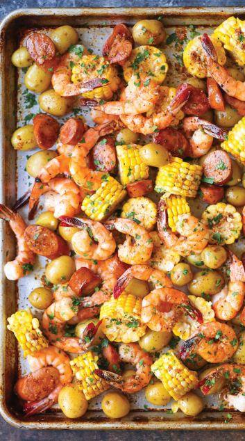 Sheet Pan Shrimp Boil | Low Maintenance Weeknight Dinner Ideas