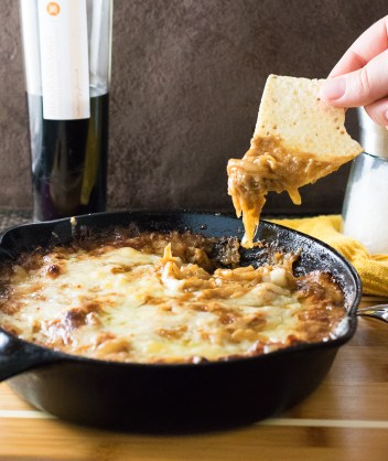 Baked Caramelized Onion Dip with Gruyere Cheese | Easy Fall Party Appetizers and Snacks