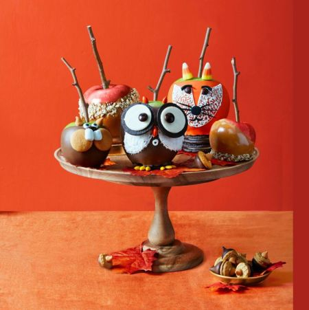 Woodland Creature Candy Apples | Halloween Candy Apples