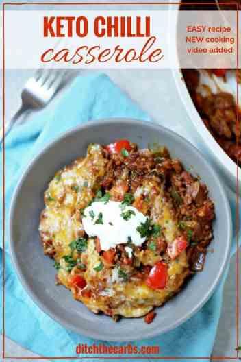 Easy Keto Chili Casserole | Low Carb Keto Casserole