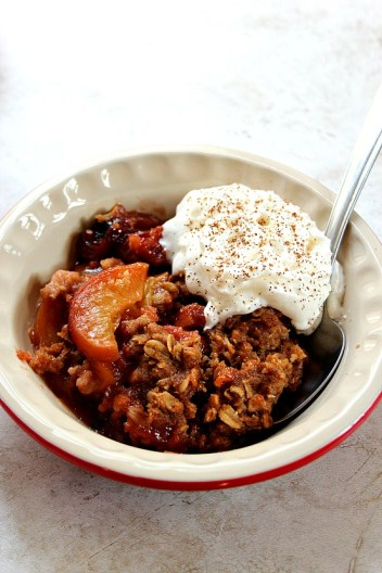 Slow Cooker Peach Crisp | Slow Cooker Dessert Recipes