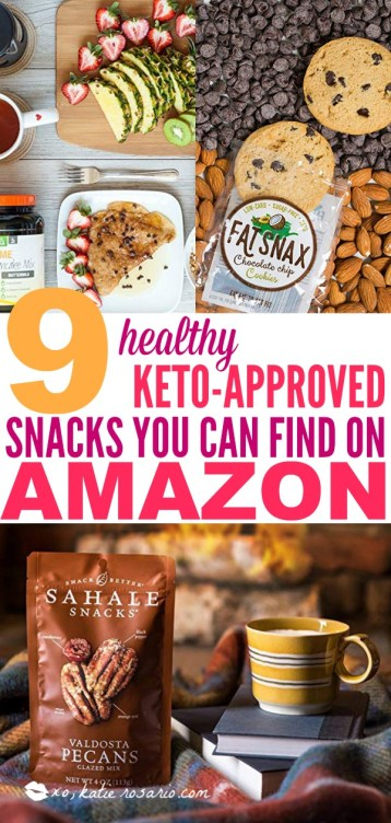 Are You On the Keto Diet? Here's 9 Keto-Approved Snacks That Amazon Shoppers Swear By! You will love these easy keto snacks for your ketogenic diet. These are the best keto friendly snacks that will help you lose weight and stay in ketosis. Keto snacks are here to keep you own your journey and make your life way easier. #xokatierosario #ketogenicrecipes #ketorecipes #ketobites