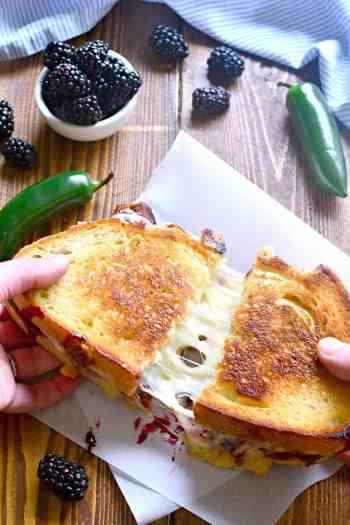 Blackberry Bacon Grilled Cheese | Gourmet Grilled Cheese Recipes
