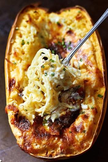 Baked Four Cheese Garlic Spaghetti Squash Bowl | Easy Spaghetti Squash Bowls
