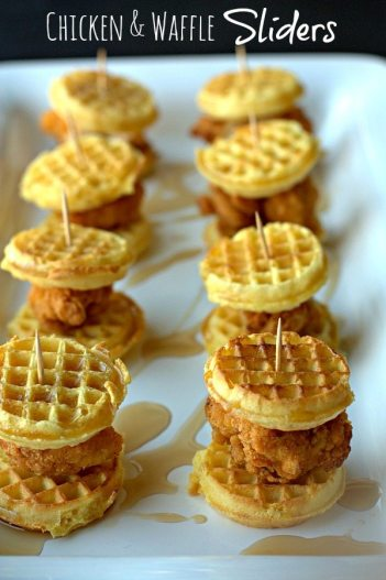 Chicken and Waffles Sliders | Easy Slider Recipes