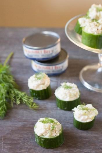 Tuna in Cucumber Cups   Keto Small Bites & Snack Recipes