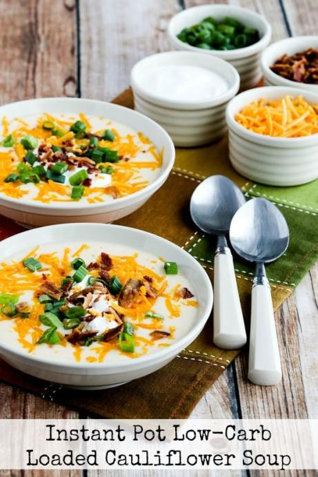 Instant Pot Low-Carb Loaded Cauliflower Soup | 11 Brilliant Instant Pot Keto Recipes For Busy Weeknights