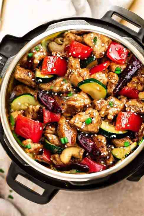 Instant Pot Kung Pao Chicken | 11 Brilliant Instant Pot Keto Recipes For Busy Weeknights