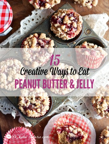 Learn how these creative peanut butter and jelly recipes go beyond the classic sandwich. Choose from Peanut Butter and Jelly Cheesecake or Donuts to PB & J Muffins or Hand Pies. These peanut butter and jelly recipes make lovely desserts, snacks or anytime treats that you and your family will totally love! #xokatierosario #peanutbutterandjelly #pbjdesserts #easypb&jdesserts