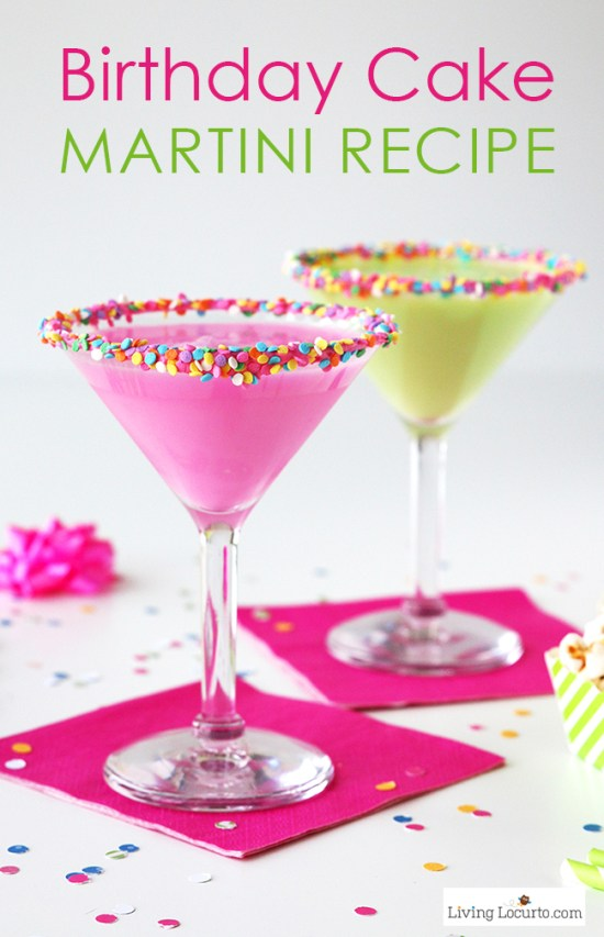 Funfetti Birthday Cake Martini | Do you wish that every day can be your birthday? Making funfetti birthday cake is like celebrating your birthday anytime you want. Funfetti birthday cake is a moist vanilla cake that is studded with rainbow sprinkles, so it looks like confetti. You can choose from cinnamon rolls, biscotti, whoopie pies, and even white hot chocolate! #xokatierosario #funfettibirthdaycake #birthdaycakedesserts #funfetticakedesserts