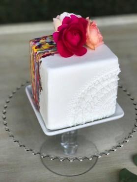 Mini Lace & Painted Cake