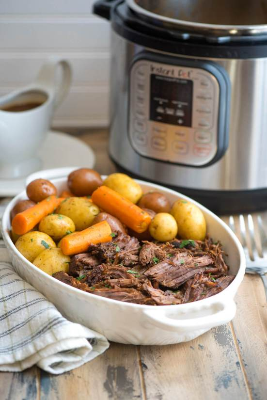 Instant Pot Pot Roast | This is for those who are looking for healthy easy recipes with minimal cleanup. The solution is easy, making one pot healthy meals. Choose from one pot recipes like Cashew Chicken Stir Fry, Spicy Thai Noodles, or Mexican Rice Casserole! These one pot healthy dinners are sure to make cooking on a busy weeknight so much easier. #xokatierosario #onepothealthymeals #easyonepanrecipes #easyhealthymeals