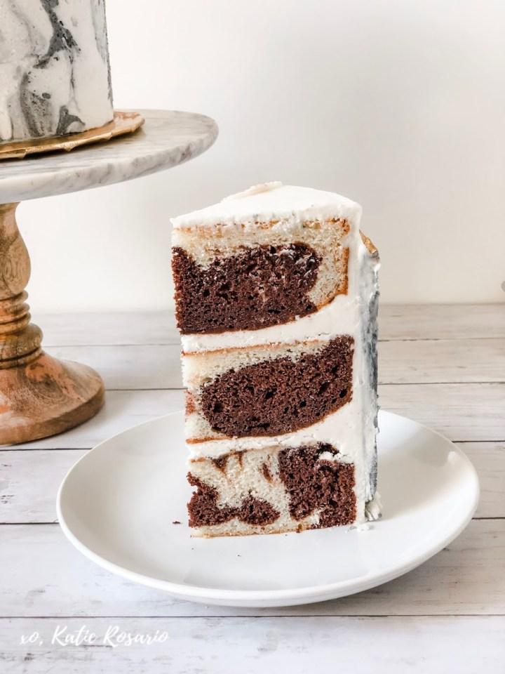 How To Make A Modern Marble Buttercream Cake Xo Katie
