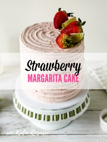 Looking for a sweet and delicious cake that's perfect for Cinco de Mayo? This strawberry lime margarita cake is bold and flavorful which is perfect for those hot summer parties. This cake is simple in decoration but doesn't skip on that wonderful made from scratch flavor. It's the best combination of sweet, tart and salty! #xokatierosario #margaritarecipe #margaritacake #strawberrylimecake #cakedecoratingtips