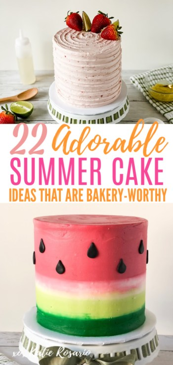 Looking for beautiful summer time cake ideas that anyone can make? These summer cake ideas are perfect for beginner bakers. Here you'll learn how to make stunning summer time cakes that you're friends and family will love! I'm so excited to see your summer cake creations! #xokatierosario #cakedecoratingtipsandtricks #summercakeideas #summercakes