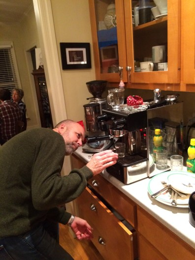 Uncle Brent the espresso master