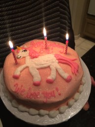 Sue's unicorn birthday cake