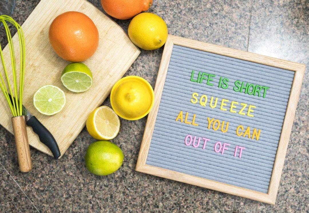 Felt Like Sharing Citrus Letter set