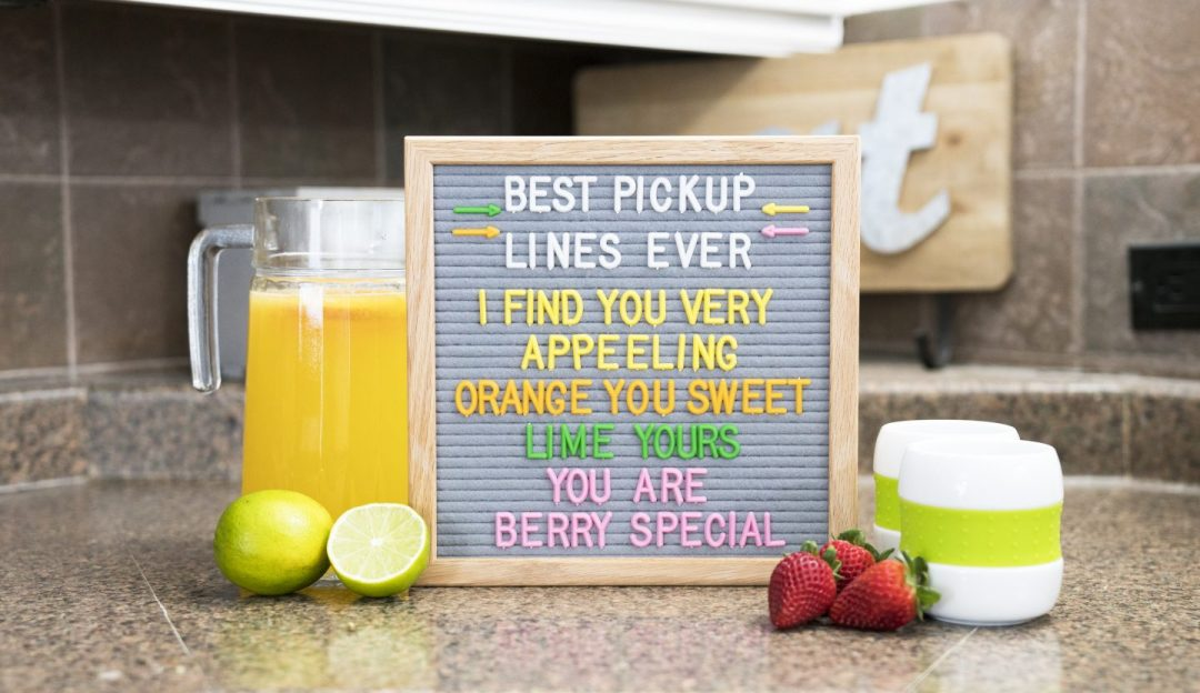 felt like sharing gray felt letter board citrus letter set