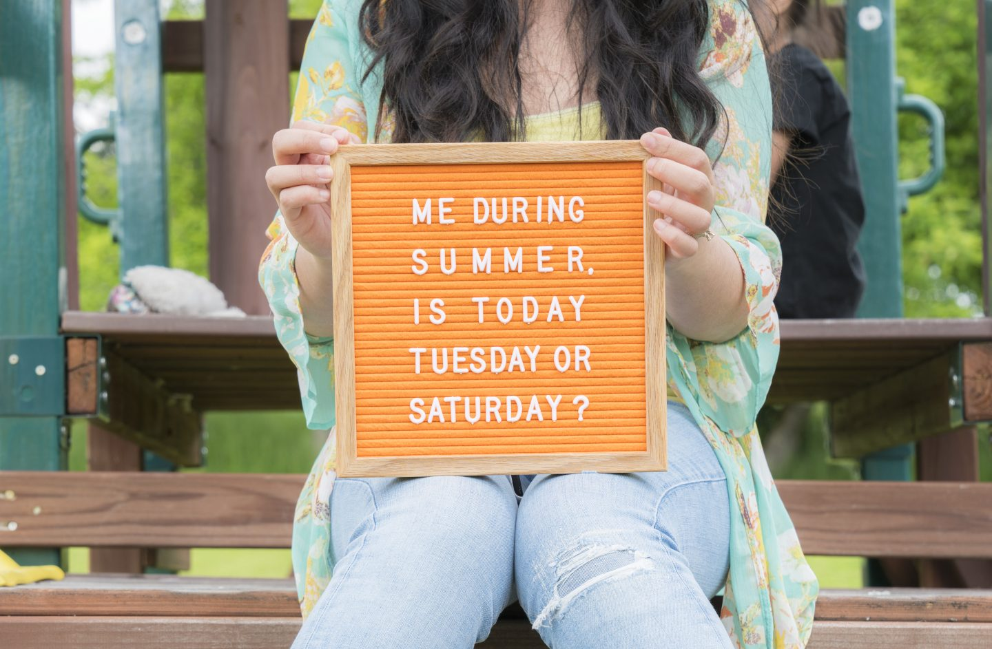 felt like sharing neon orange felt letter board