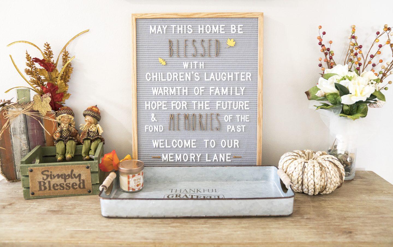Fall Decoration Ideas Hobby Lobby Felt Letter Board