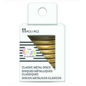 Medium Metal Gold Discs