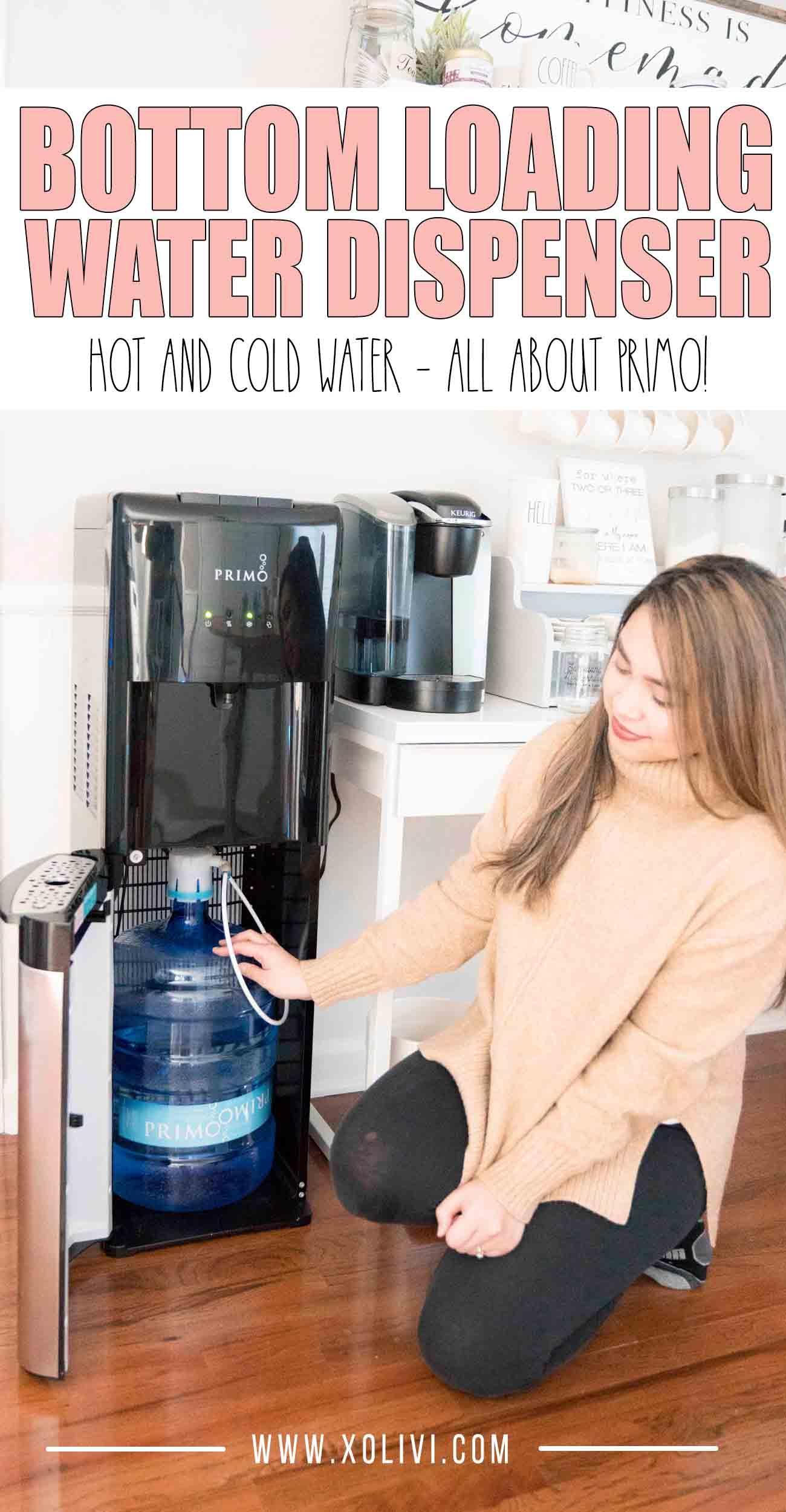 Primo water dispenser bottom loading