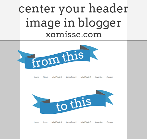 center header image in blogger
