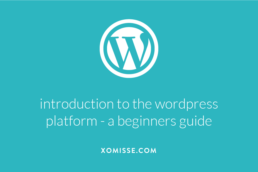Introduction to the WordPress platform