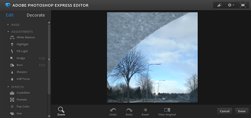 Photoshop Express - alternatives to photoshop online