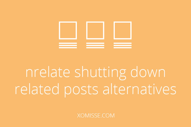 Alternatives to nRelate - related posts