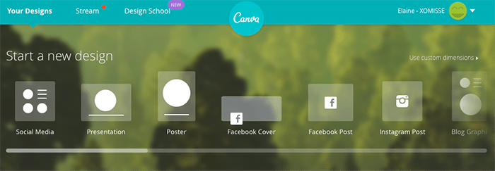 Canva - Graphic Editor for Blogging