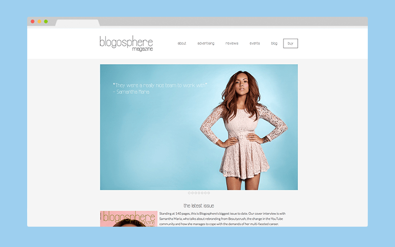 blogosphere magazine web design