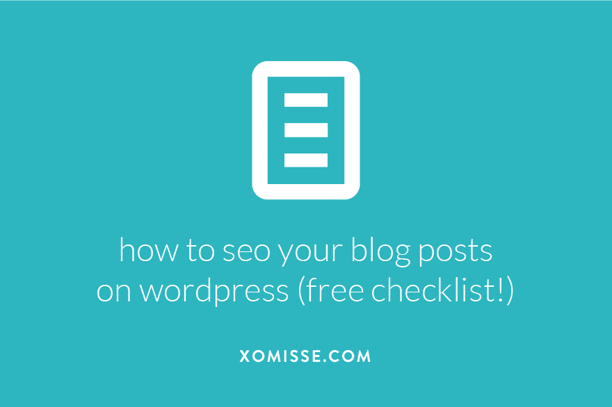 how to optimise your posts for search engines on WordPress